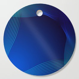 Greeting card of blue lines on a blue background. Cutting Board