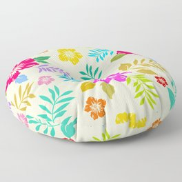 Poster Background   Colorful Blossom Flower Floor Pillow
