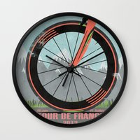 brompton Wall Clocks featuring Tour De France Bike by Wyatt Design