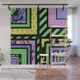 Pastel Corners (Abstract, geometric, textured designs) Wall Mural