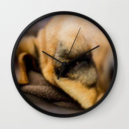 Where the couch ends...the dog begins Wall Clock