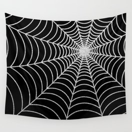 Spiderweb | Silver Glitter Wall Tapestry