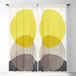 SUN MOON EARTH Blackout Curtain