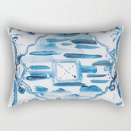 Azulejos Portugal, hand painted ceramic tiles Rectangular Pillow