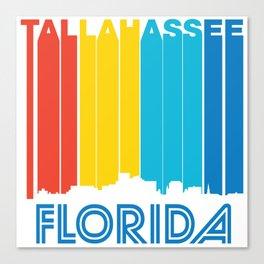 Retro 1970's Style Tallahassee Florida Skyline Canvas Print