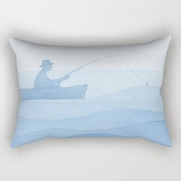 Fisherman & gold fish Rectangular Pillow