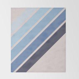 Blue Color Drift Throw Blanket