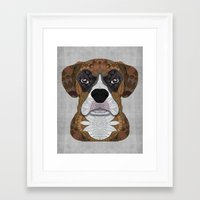 boxer Framed Art Prints featuring Boxer by ArtLovePassion
