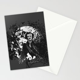Unlikely Meeting in The Moonlight with Mr Edgar Allan Poe Stationery Cards