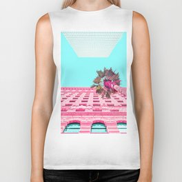 LA Palm Tree Look Up Biker Tank