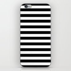 Modern Black White Stripes Monochrome Pattern iPhone Skin
