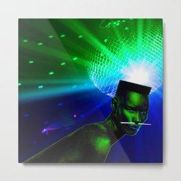 "Grace Jones ""Remixed"" Concept Album Cover Metal Print"