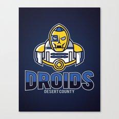 Desert County Droids - Navy Canvas Print