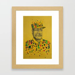 DESFRAGMENTACIÓN Framed Art Print