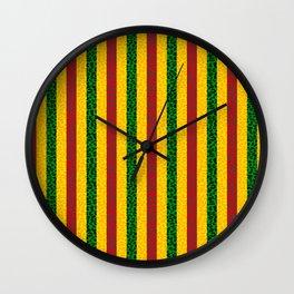 African Leopard Print Wall Clock