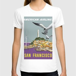 Vintage Travel Poster - San Francisco T-shirt