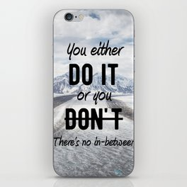 Motivational - Do it! - Motivation iPhone Skin