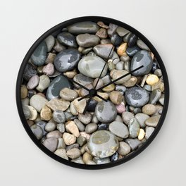 Wet Rocks Wall Clock