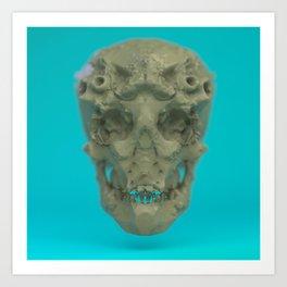 Skull Coral Reef Art Print