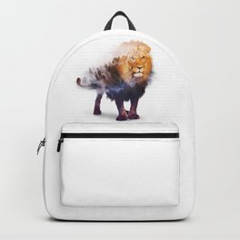 Lion Double exposure art Backpack