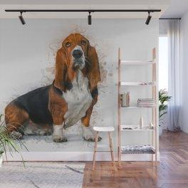 Basset Hound Wall Mural