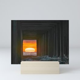 Sunset Through Scripps Pier II Mini Art Print