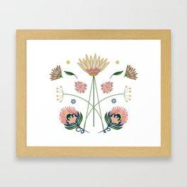 Folk Art Floral Framed Art Print