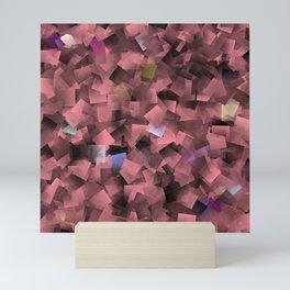 abstract pattern in metal purple,black Mini Art Print