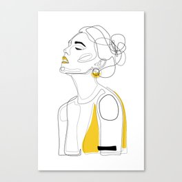 Yellow Lip Canvas Print