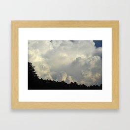 White Cloudscape Framed Art Print