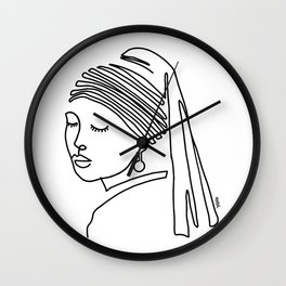 Girl with a pearl earring Wall Clock