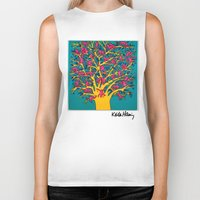 keith haring Biker Tanks featuring Keith Haring: The Tree of Monkeys by cvrcak