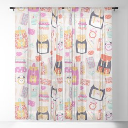 Back to school Sheer Curtain