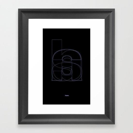 Die Neue Haas Grotesk (B-02) Framed Art Print