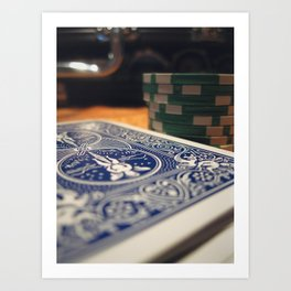 Poker Cards and Chips on the Table, All In Art Print