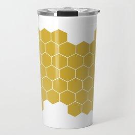Honeycomb White Travel Mug