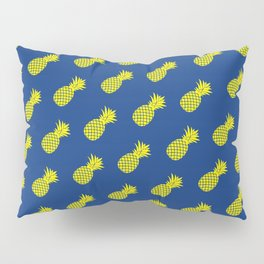 Yellow and blue tropical pineapple pattern Pillow Sham