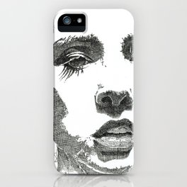 Female Face iPhone Case