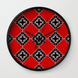 Native ethnic pattern Wall Clock
