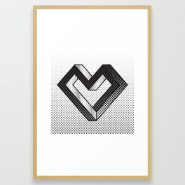 le coeur impossible (nº 5) Framed Art Print