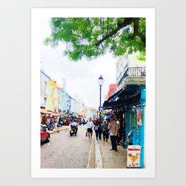 Portobello Road in Notting Hill Art Print