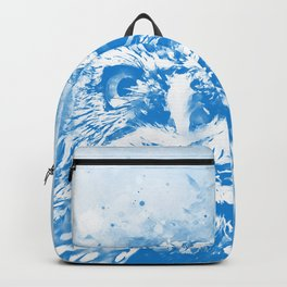 owl portrait 5 wswb Backpack