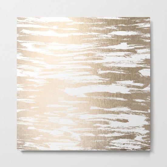 White Gold Sands Paintbrush Metal Print