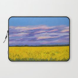 Canola Fields at Dusk Laptop Sleeve