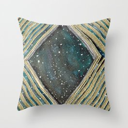 space spilling over Throw Pillow