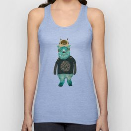 cookie and big blue Unisex Tank Top