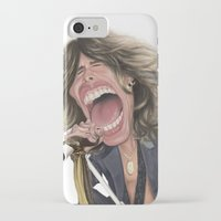 tyler spangler iPhone & iPod Cases featuring Steven Tyler by Sant Toscanni
