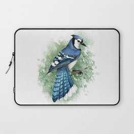 Blue Jay In Watercolor Laptop Sleeve