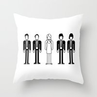 blondie Throw Pillows featuring Blondie by Band Land