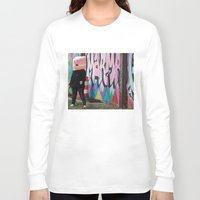 detroit Long Sleeve T-shirts featuring Detroit Graffiti by ashurcollective